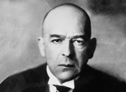 "1926 --- Oswald Spengler (1880-1936) was a German author, a philosopher of history. His views on predetermined ""historical destiny"" greatly influenced the Nazis. --- Image by © Bettmann/CORBIS"