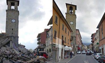 Το πριν και το μετά του σεισμού στην πόλη Αματρίτσε