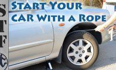 Πώς θα βάλετε μπροστά αυτοκίνητο χρησιμοποιώντας ένα σκοινί