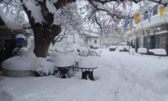 Η επέλαση του χιονιά στ' Ανώγεια (video)