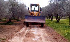 Καθαρισμός αγροτικών δρόμων στο Δήμο Γόρτυνας