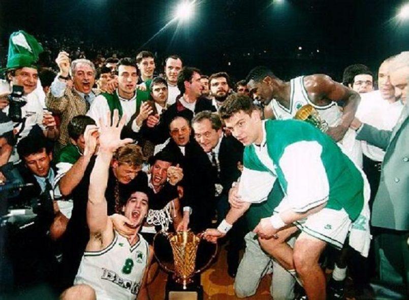 Ο Παναθηναϊκός γίνεται η πρώτη ελληνική ομάδα, που κατακτά το Κύπελλο Πρωταθλητριών στο μπάσκετ. Στο τελικό του Παρισιού νικά 67-66 τη Μπαρτσελόνα