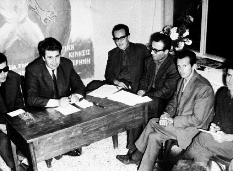 Ο Μίκης Θεοδωράκης και είκοσι έλληνες επιστήμονες, καλλιτέχνες, εργάτες, φοιτητές και δημοσιογράφοι ιδρύουν το Κίνημα Νεολαίας «Γρηγόρης Λαμπράκης»
