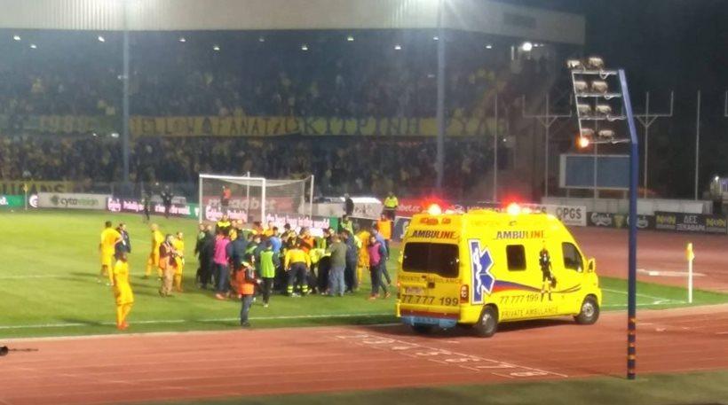 Φωτοβολίδα χτύπησε ball boy σε αγώνα στην Κύπρο!