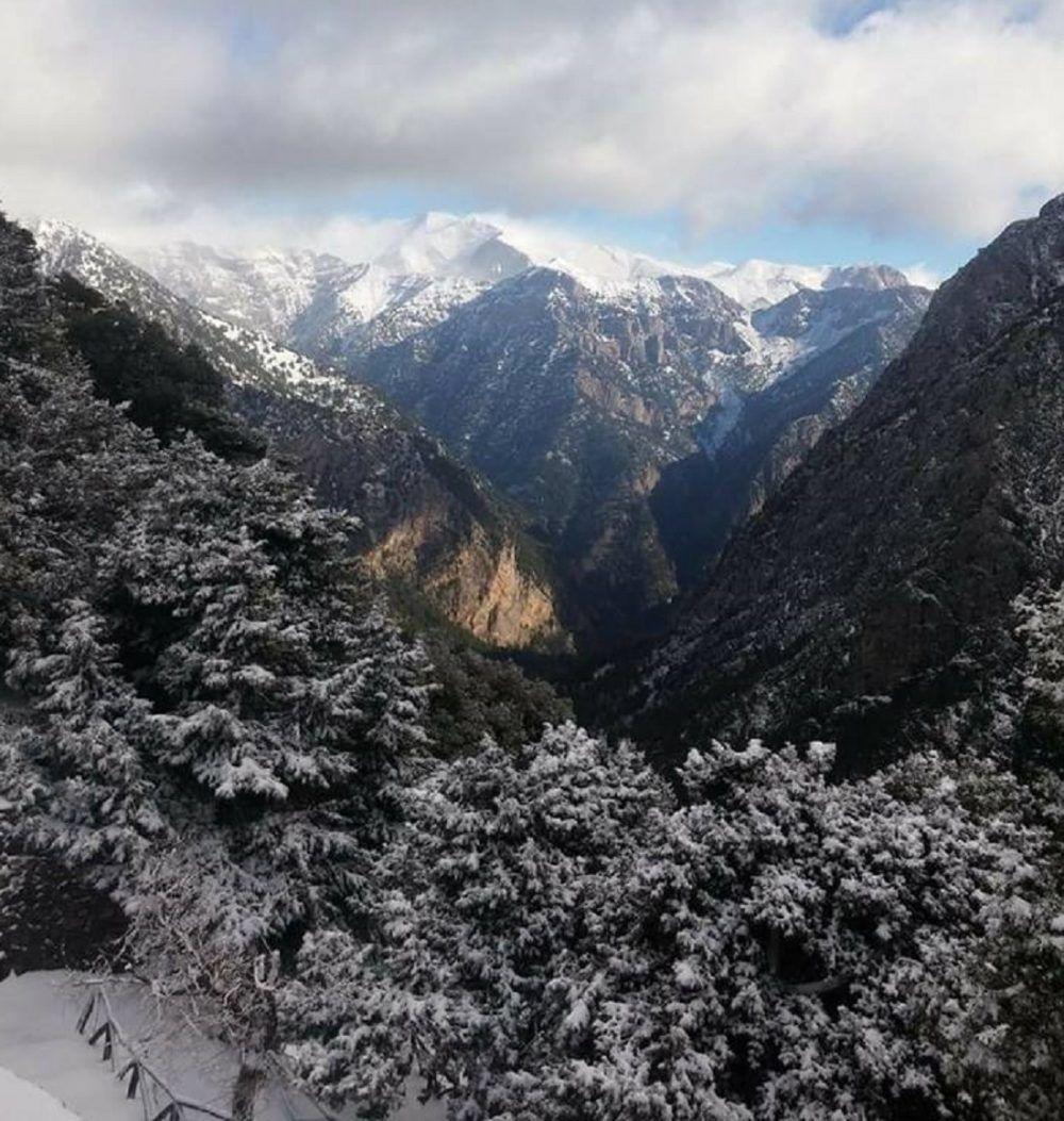 χιονισμένο Φαράγγι της Σαμαριάς