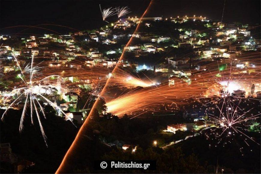 ρουκετοπόλεμος στη Χίο