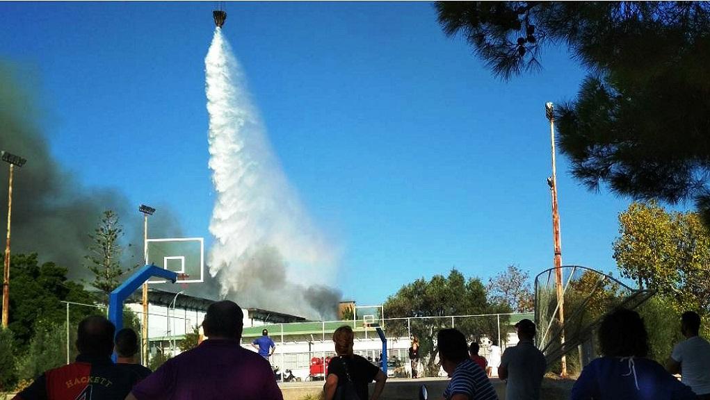 φωτιά στο Πανεπιστήμιο Κρήτης