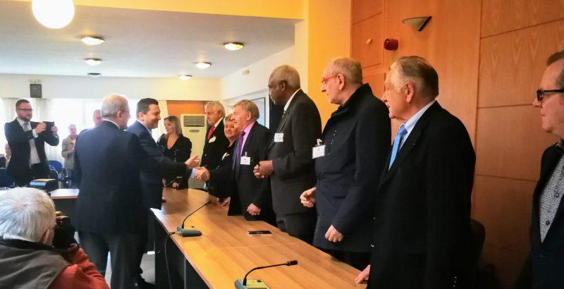 Επίσκεψη του διπλωματικού τάγματος του Αγίου Γαβριήλ στο δημαρχείο Χερσονήσου