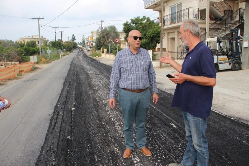 """Τ. Βάμβουκας: Ως δημοτική αρχή φροντίζουμε την καθημερινότητα του πολίτη, προσπαθούμε να βελτιώσουμε το προβληματικό οδικό μας δίκτυο"""""""