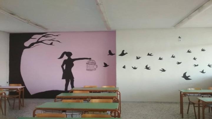 Μαθητές λυκείου άλλαξαν το σχολείο τους, βάφοντας και ζωγραφίζοντας 13 αίθουσες