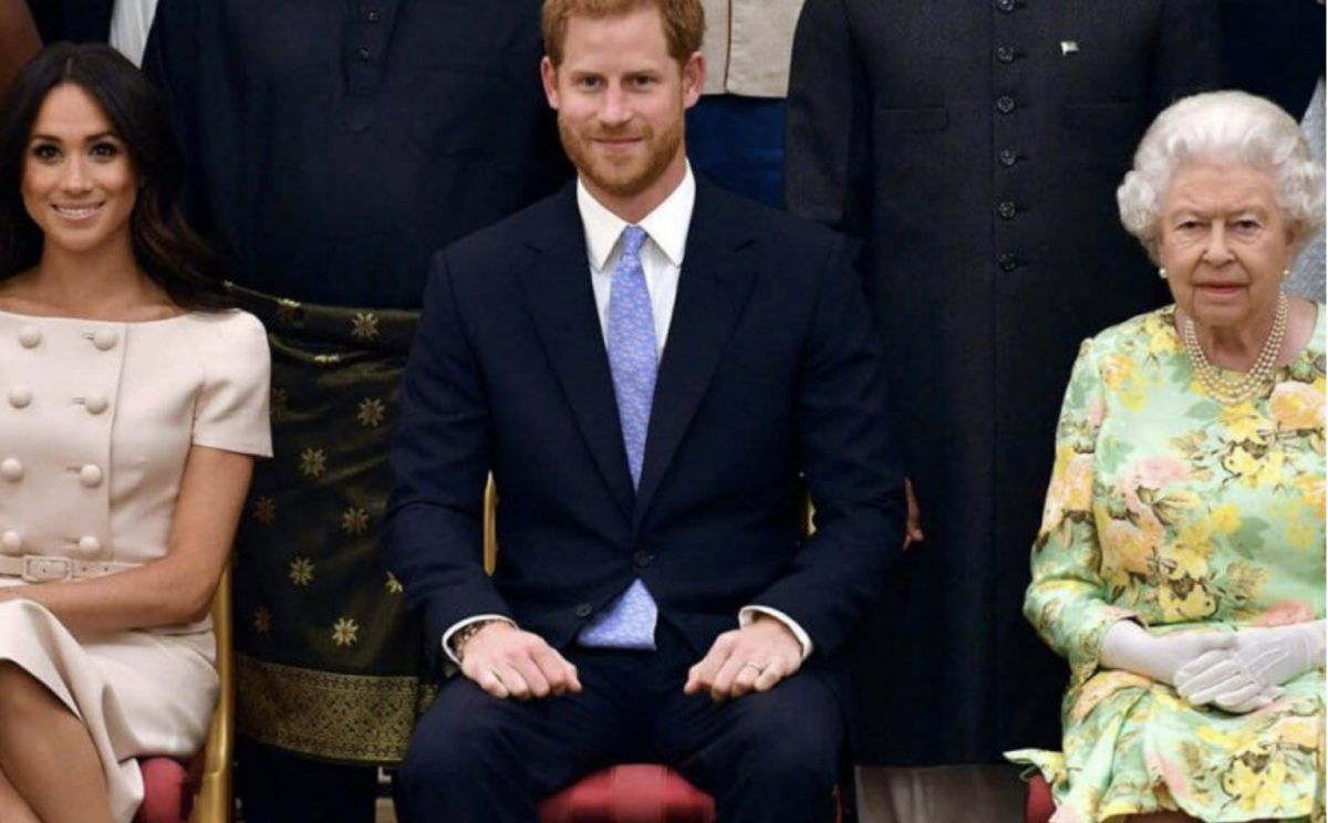 πρίγκιπας Χάρι και η σύζυγός του Μέγκαν Μαρκλ και η Βασίλισσα Ελισάβετ
