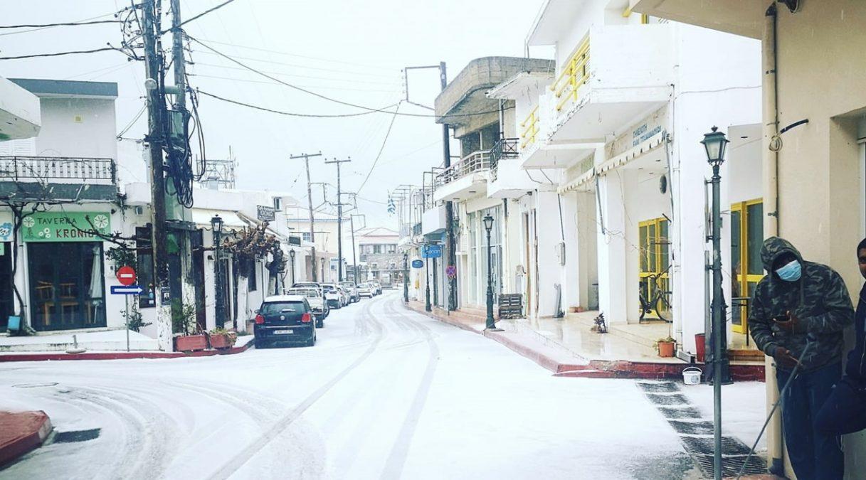 Χιόνια στο Οροπέδιο Λασιθίου